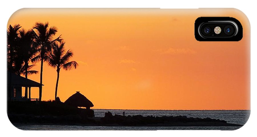 Sunset IPhone X Case featuring the photograph Sunset At Key West by Sheli Kesteloot