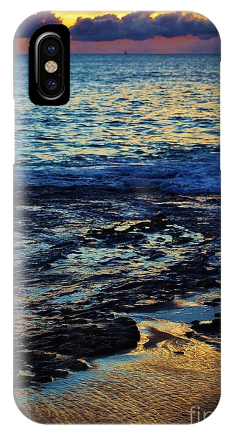 Sunset IPhone X Case featuring the photograph Sunset At Low Tide by Craig Wood