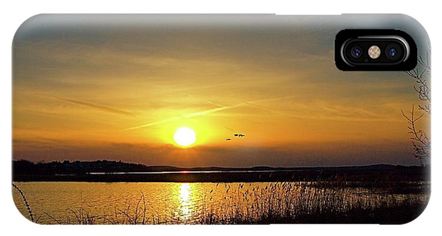 Water IPhone X Case featuring the photograph Sunset At Parker River National Wildlife Refuge by Peter Gray