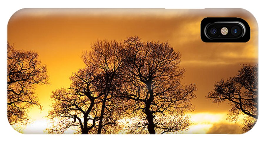 Sunset IPhone X Case featuring the photograph Sunset At Redhill by Bob Kemp