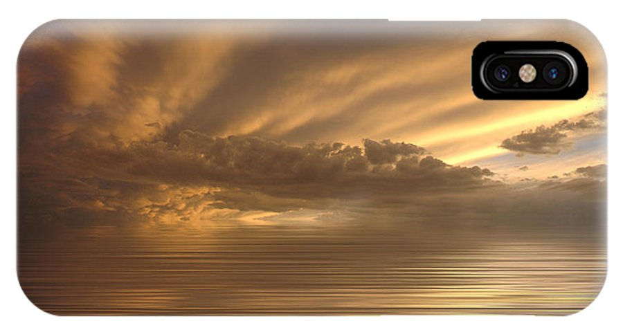Sunset IPhone X Case featuring the photograph Sunset at Sea by Jerry McElroy