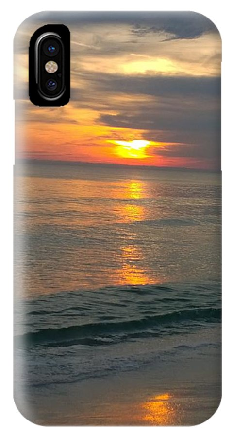Sunset IPhone X / XS Case featuring the photograph Sunset At The Beach by Gayle Miller