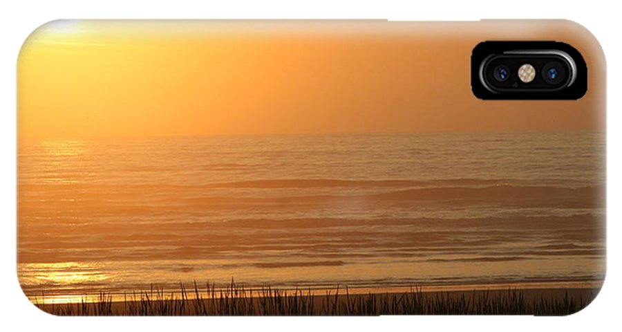 Sunset IPhone X Case featuring the photograph Sunset At The Beach by JoJo Photography