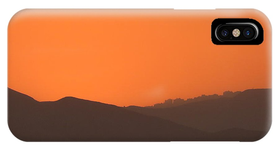 Sunset IPhone X Case featuring the photograph Sunset At The Dead Sea by Ana Dawani