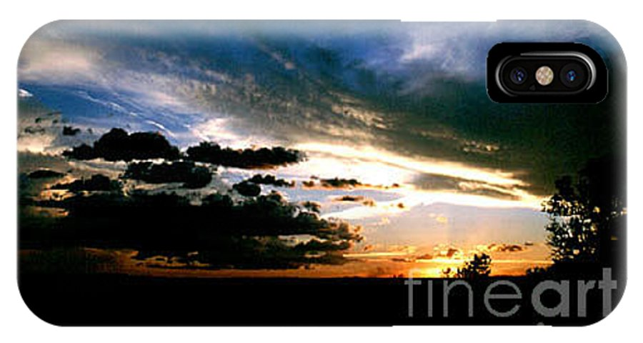 Sunset IPhone X Case featuring the photograph Sunset At The North Rim by Kathy McClure