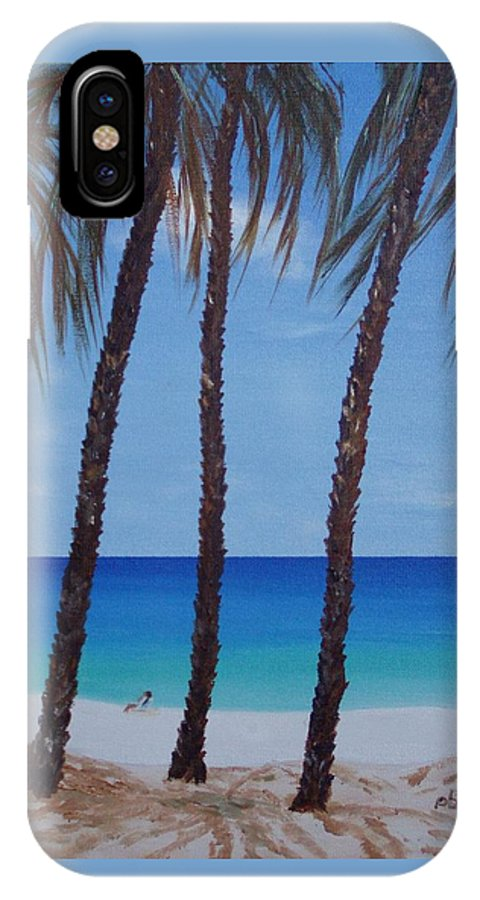 Beaches IPhone X / XS Case featuring the painting Sunset Beach by Patti Bean