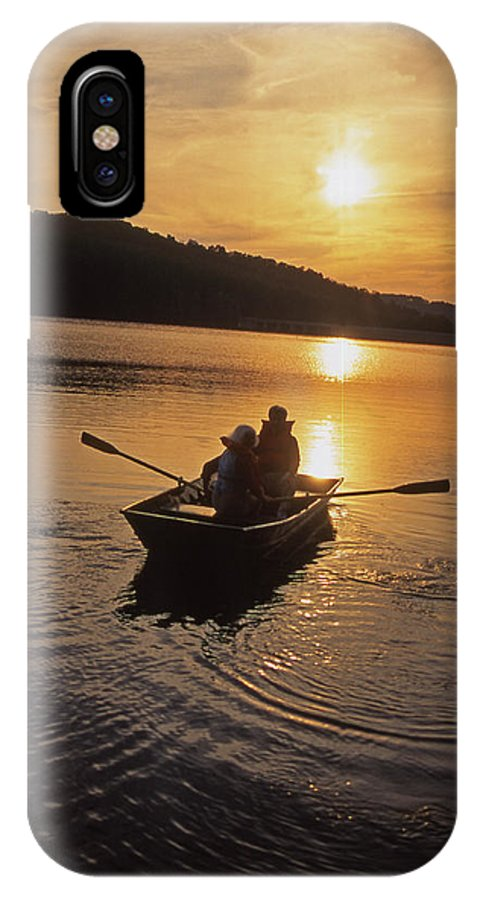 Aged Couples IPhone X / XS Case featuring the photograph Sunset Boating by Blair Seitz