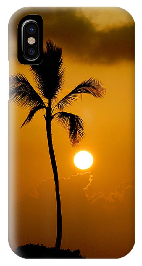 Maui IPhone X Case featuring the photograph Sunset Coconut Palm Maui Hawaii by Pierre Leclerc Photography