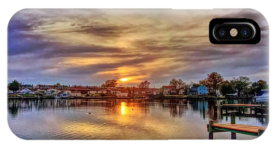 Sunset IPhone X Case featuring the photograph Sunset Creek by Chris Montcalmo