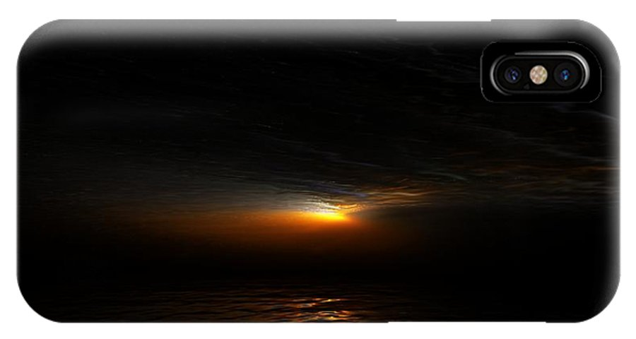 Digital Painting IPhone X Case featuring the digital art Sunset by David Lane
