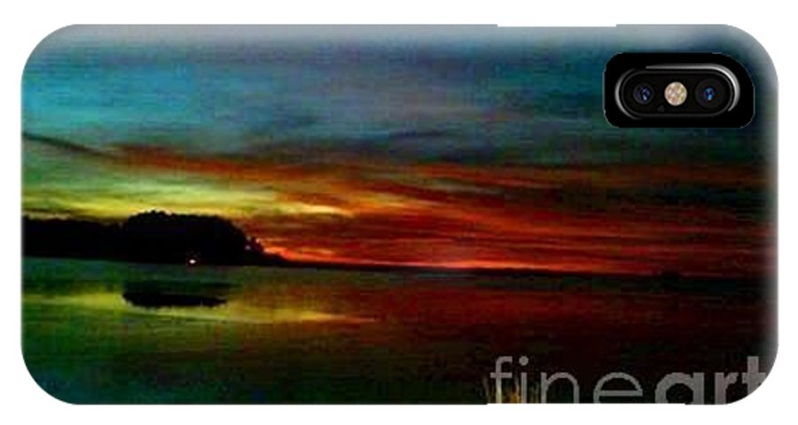 Fire In The Sky IPhone X Case featuring the digital art Sunset by Dawn Johansen