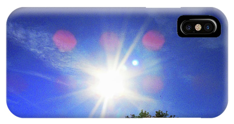Sunset IPhone X Case featuring the photograph Sunset by Donna Tanael