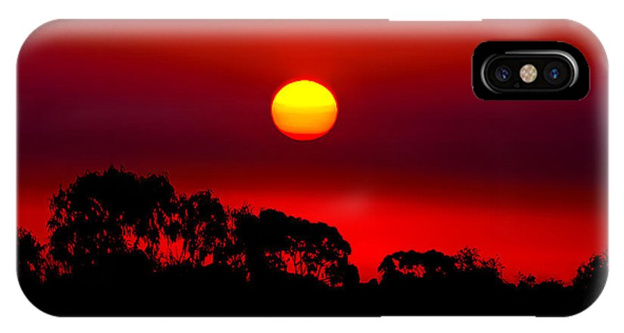 Landscape IPhone X Case featuring the photograph Sunset Dreaming by Az Jackson
