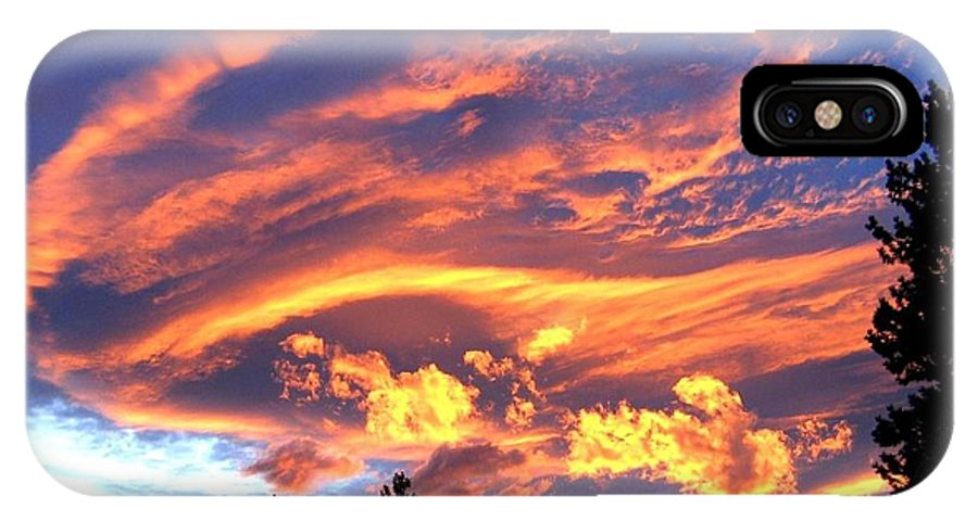 Sunset IPhone X Case featuring the photograph Sunset Extravaganza by Will Borden