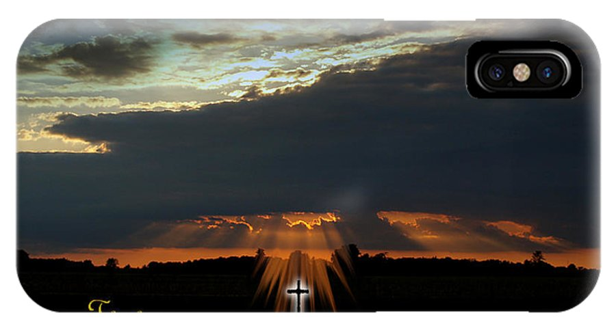 Heavens Declare The Glory Of God IPhone X Case featuring the photograph Sunset Finished by Dean Frick