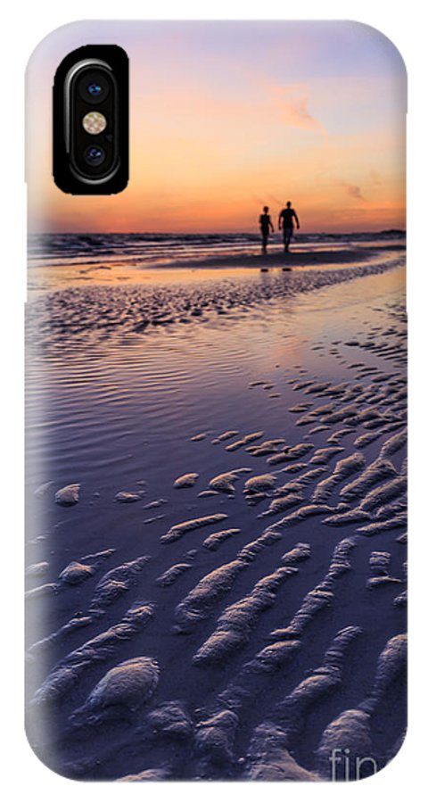 Sand IPhone X Case featuring the photograph Sunset Fort Myers Beach Florida by Edward Fielding