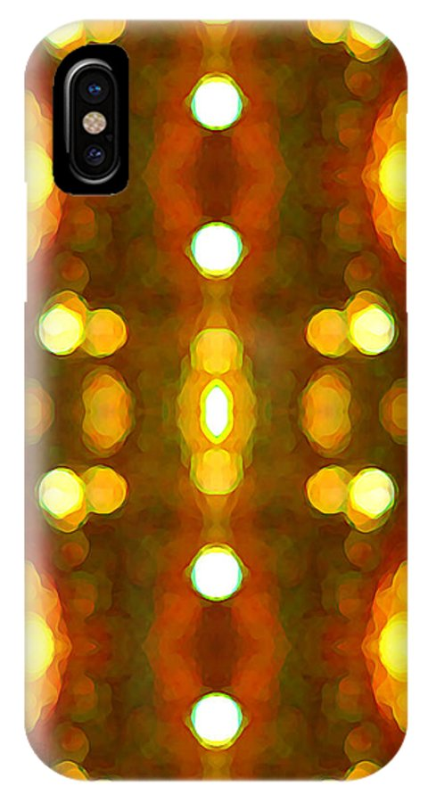 Abstract IPhone Case featuring the painting Sunset Glow 2 by Amy Vangsgard