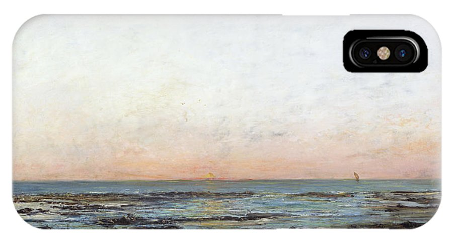 Sunset IPhone X Case featuring the painting Sunset by Gustave Courbet