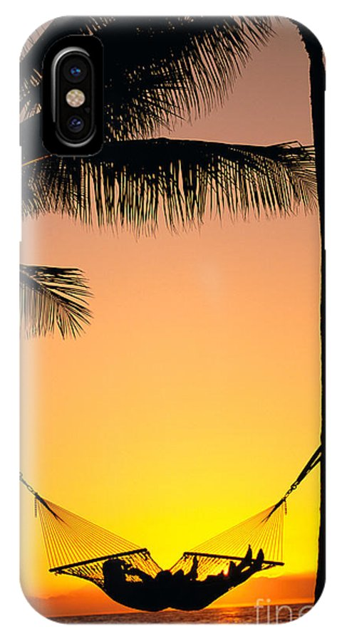Affection IPhone X Case featuring the photograph Sunset Hammock by Dana Edmunds - Printscapes