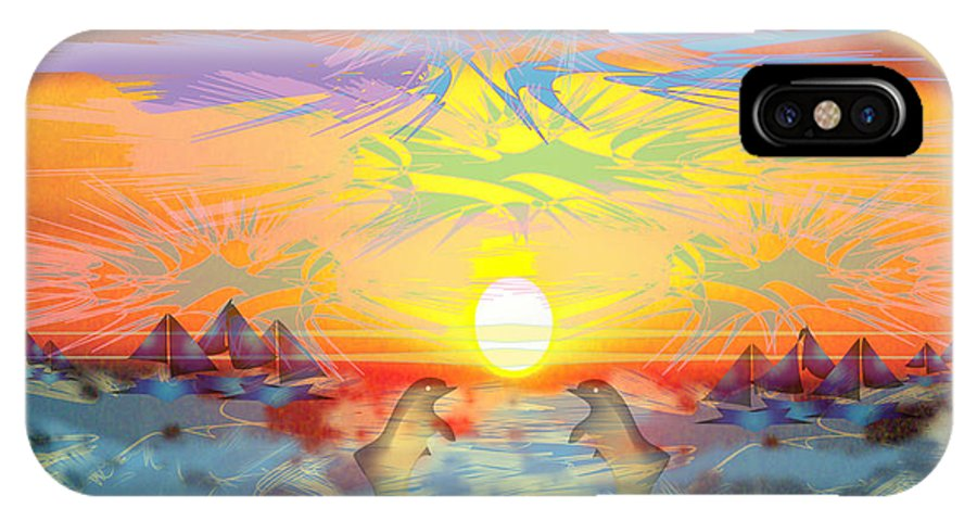 Nature IPhone Case featuring the digital art Sunset IIi by George Pasini