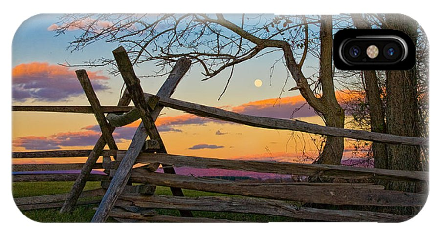 Antietam IPhone X Case featuring the photograph Sunset In Antietam by Ronald Lutz