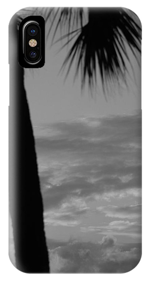 Black And White IPhone X Case featuring the photograph Sunset In Black And White by Rob Hans