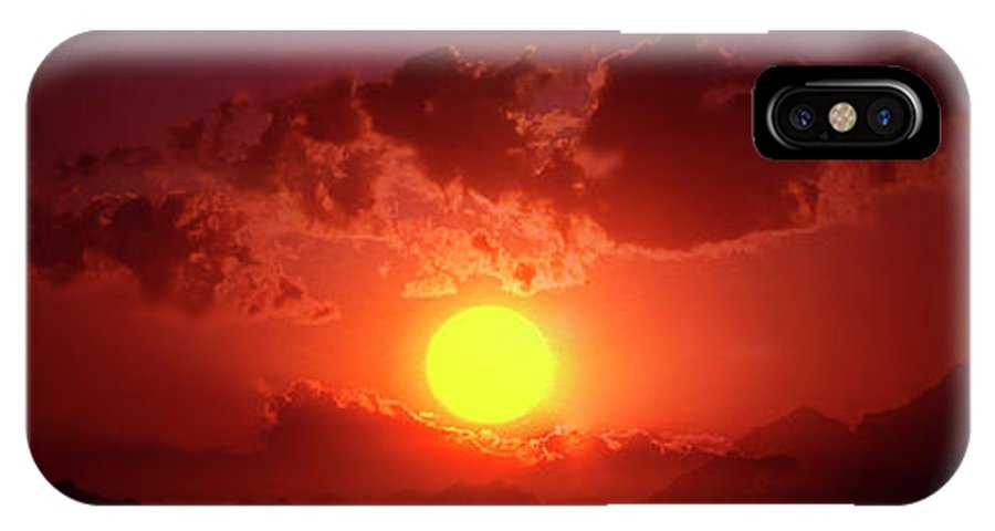 Sunset IPhone X Case featuring the photograph Sunset In Egypt 9 by Johanna Hurmerinta
