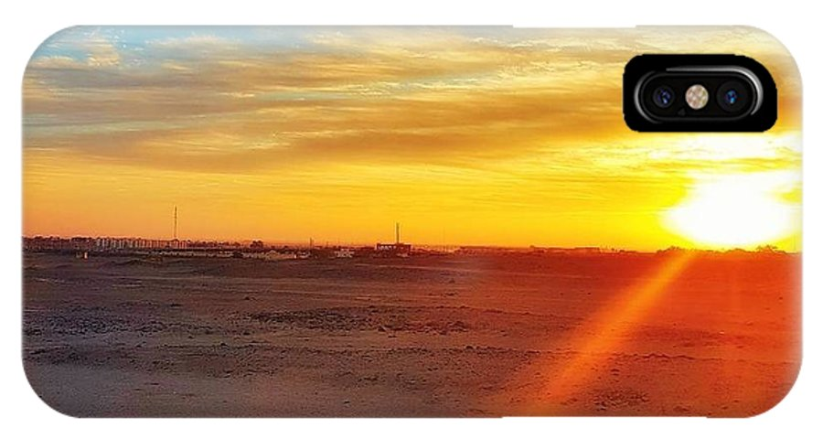 Sunset IPhone X Case featuring the photograph Sunset In Egypt by Usman Idrees
