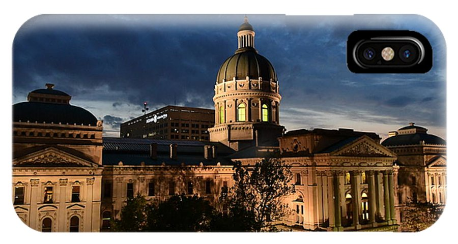 Indiana State Capitol IPhone X Case featuring the photograph Sunset In The State Of Indiana by Rob Banayote