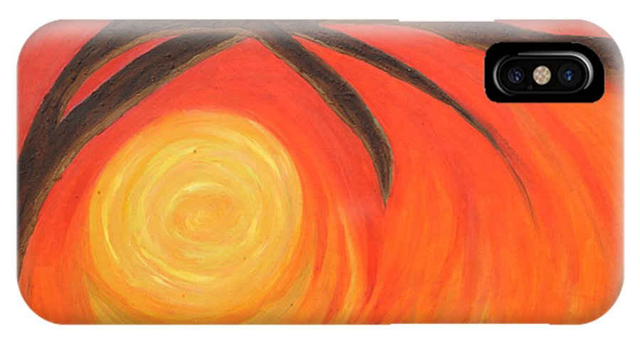 Sunset IPhone Case featuring the painting Sunset by Lola Connelly