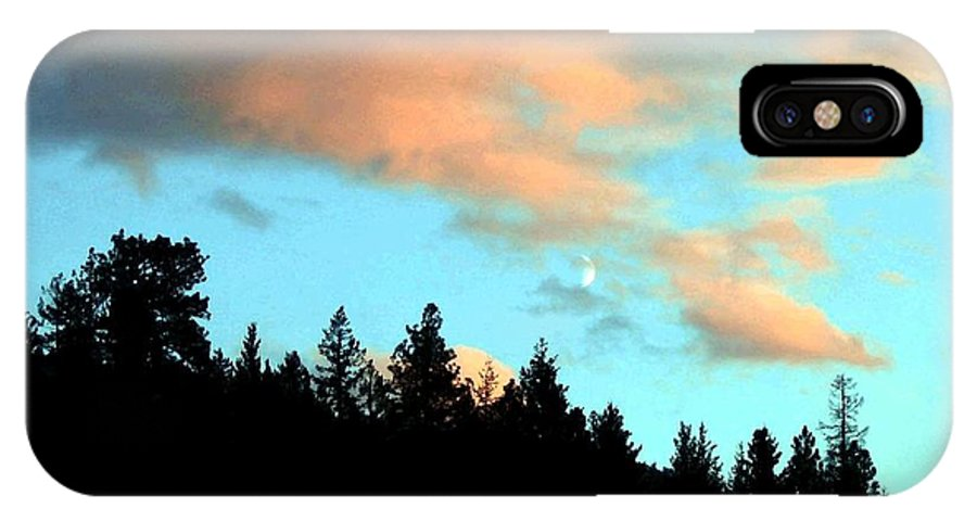 Sunset IPhone X Case featuring the photograph Sunset Moon by Will Borden