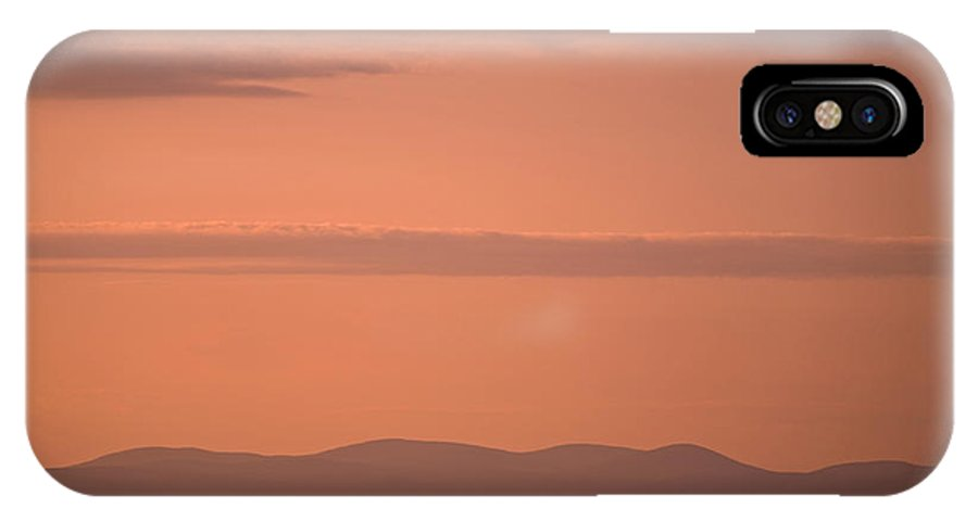 Sunset IPhone X Case featuring the photograph Sunset Number Two by Tom Heeter