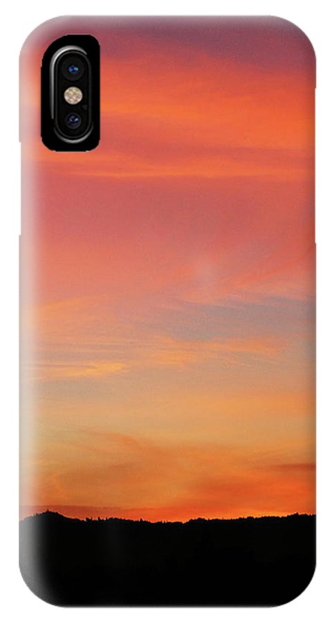 Pink IPhone X Case featuring the photograph Sunset Off Of Kings Hwy by Teri Schuster