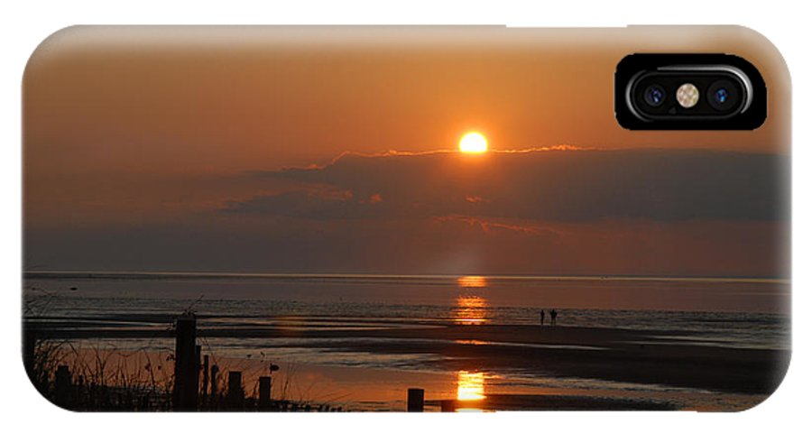 Sunset IPhone X Case featuring the photograph Sunset On Cape Cod by Alana Ranney