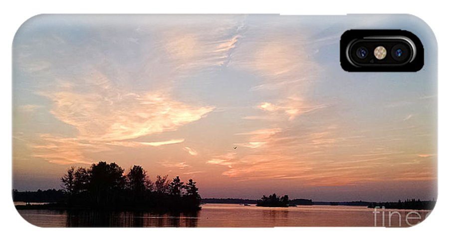Chippewa Flowage IPhone X Case featuring the photograph Sunset On The Chippewa by Stephanie Forrer-Harbridge