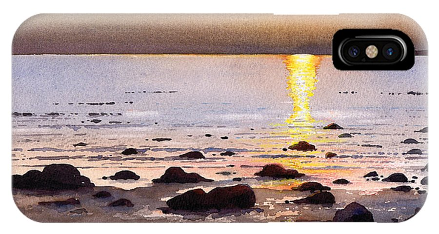 Sunset IPhone Case featuring the painting Sunset Over Cara by Paul Dene Marlor