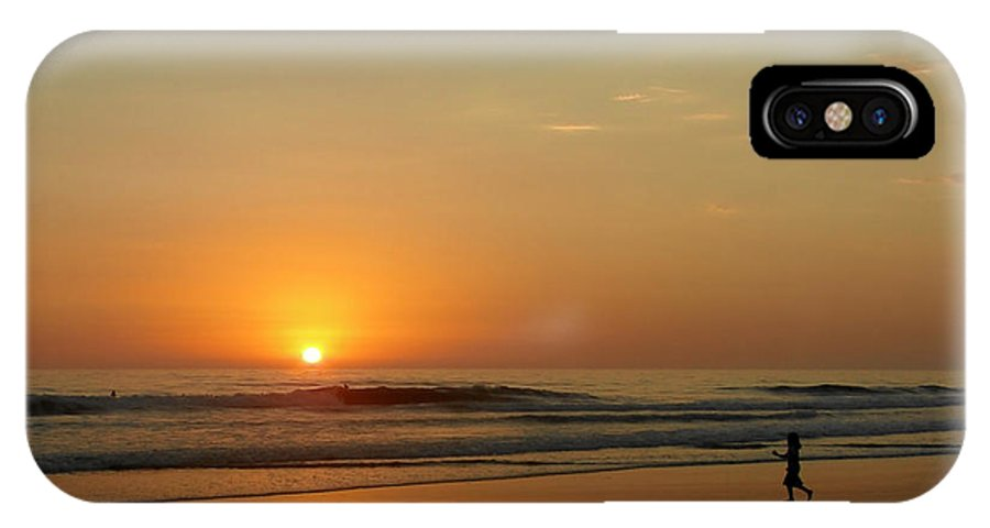 Pacific IPhone X / XS Case featuring the photograph Sunset Over La Jolla Shores by Christine Till