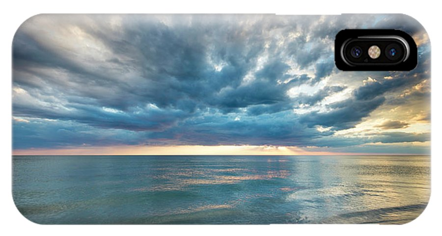 America IPhone X Case featuring the photograph Sunset Over Naples Beach by Brian Jannsen