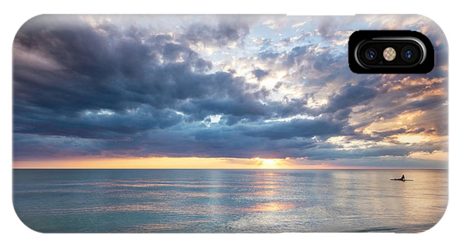 America IPhone X Case featuring the photograph Sunset Over Naples Beach II by Brian Jannsen