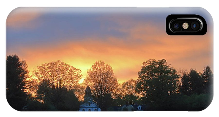 North Common Meadow IPhone X / XS Case featuring the photograph Sunset Over North Common Meadow by John Burk