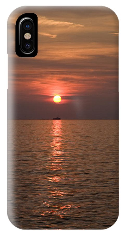 Sea IPhone X Case featuring the photograph Sunset Over Pula by Ian Middleton