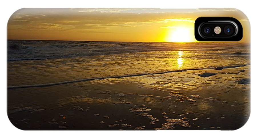 Sunset IPhone X Case featuring the photograph Sunset Over The Beach by Ami Brown