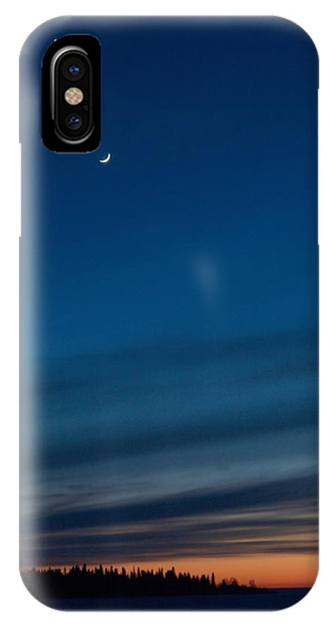 Talvi IPhone X / XS Case featuring the photograph Sunset Over The Gulf Of Bothnia by Jouko Lehto
