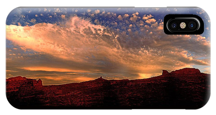 Moab IPhone X Case featuring the photograph Sunset Over The Moab Rim 2 by Dan Norris