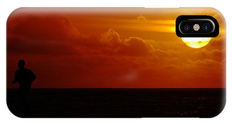 Clay IPhone X Case featuring the photograph Sunset Over The Pacific by Clayton Bruster