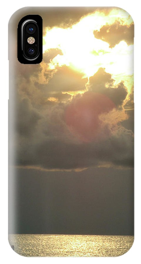 Ocean IPhone X Case featuring the photograph Sunset Over Venice by Cathi Abbiss Crane