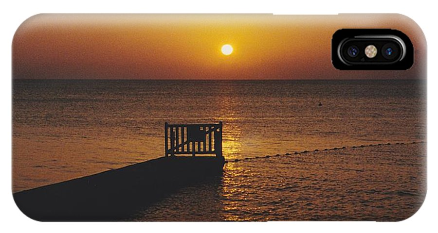 Sunsets IPhone X Case featuring the photograph Sunset Pier by Michelle Powell