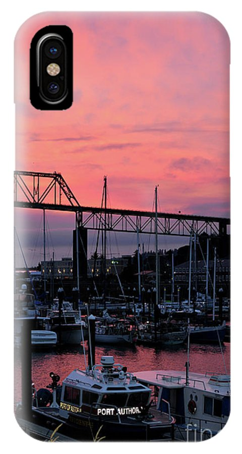 Denise Bruchman IPhone X Case featuring the photograph Sunset Port by Denise Bruchman