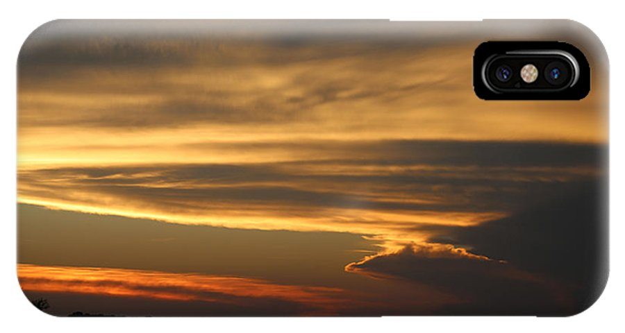 Sunset IPhone X Case featuring the photograph Sunset Shelbyville by Theresa Campbell