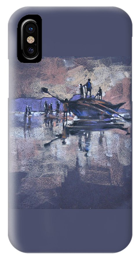 Beach IPhone X Case featuring the painting Sunset by Snehal Page